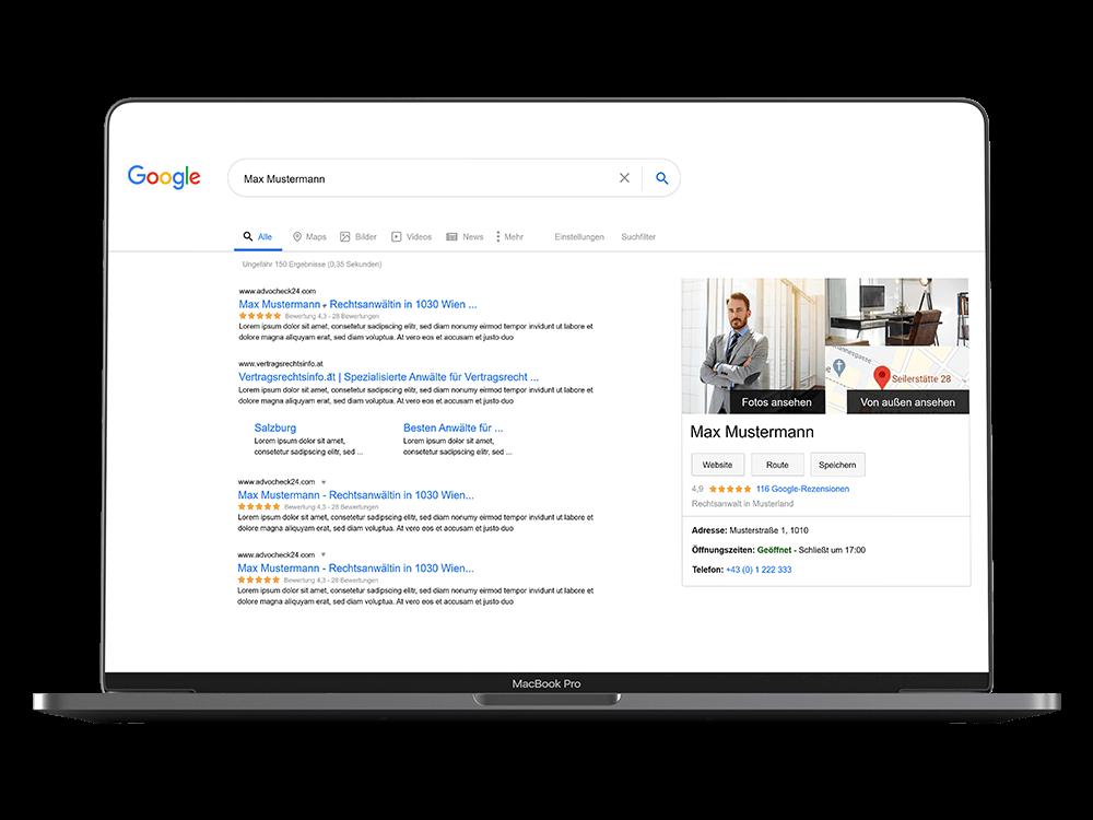 Advocheck24 Google Suche